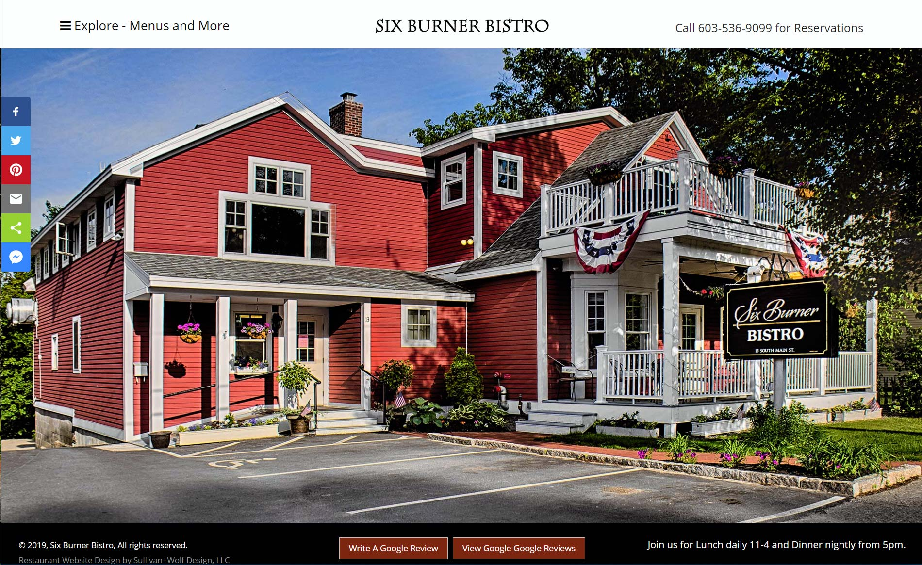 Elegant Dining, Delicious Lunches | Six Burner Bistro, a great